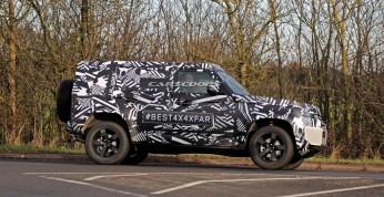 Nowy Land Rover Defender przyłapany na drodze