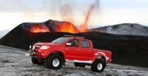 Toyota Hilux przy wulkanie Eyjafallajokull