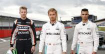 Rosberg, Hulkenberg i Wehrlein poprowadzili kultowe bolidy F1 w historii Mercedesa na Hockenheim
