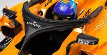 McLaren przyozdobi osłonę na kokpit bolidu logo producenta klapek