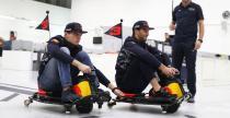Verstappen i Ricciardo szarżują po fabryce Red Bulla (wideo)