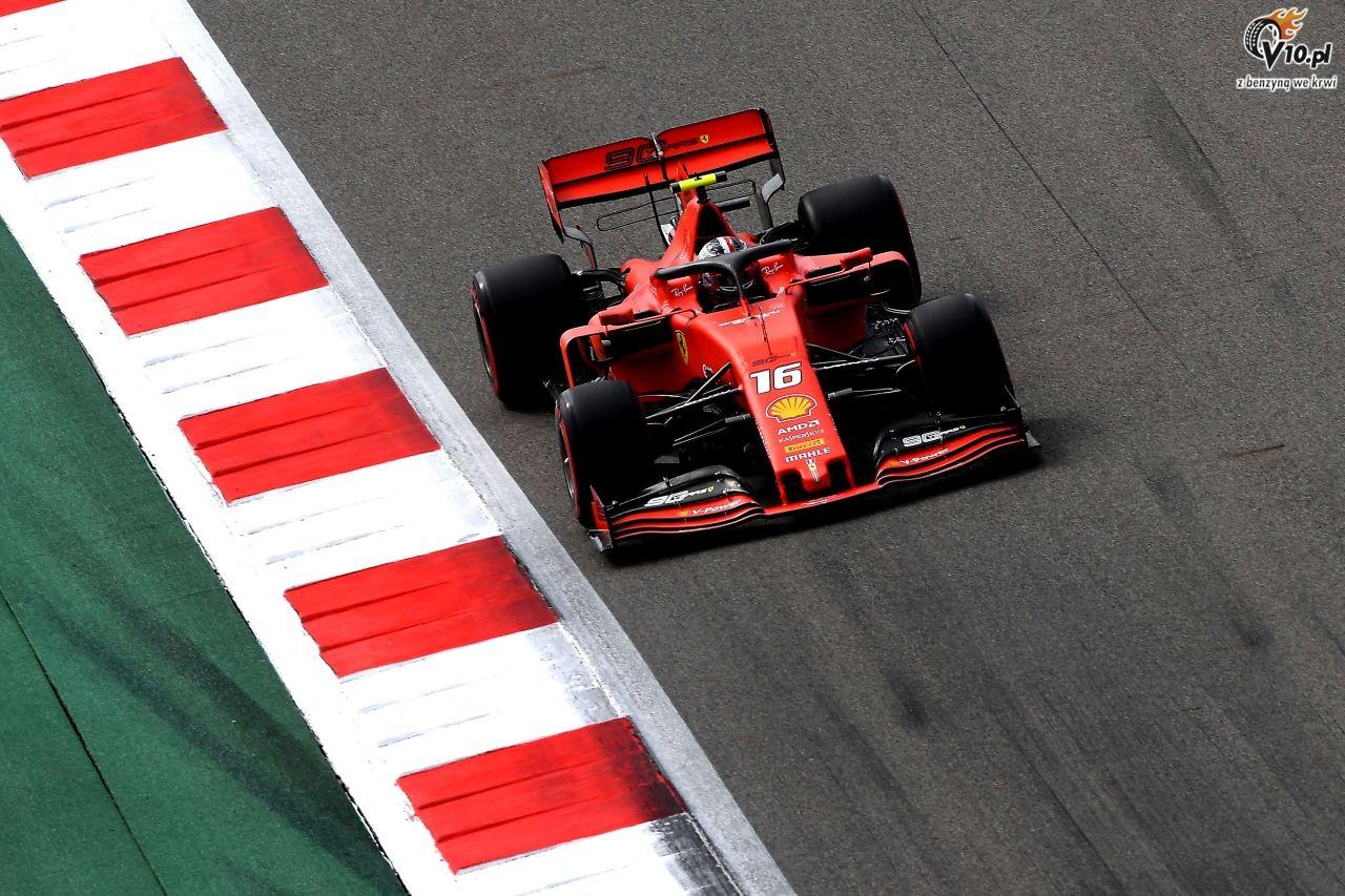 GP Rosji - 3. trening: Leclerc wraca na prowadzenie
