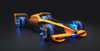 Futurystyczny bolid Formuły 1 na sezon 2050 wg McLarena