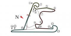 Shanghai International Circuit - mapka