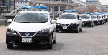 Nissany Leaf zasiliły szeregi japońskiej policji