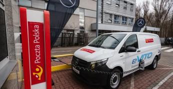 Poczta Polska dostała elektryczne Mercedesy i Volkswagena do testów