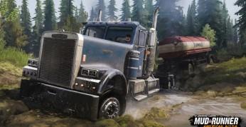 Spintires: MudRunner American Wilds - obłocone ciężarówki...