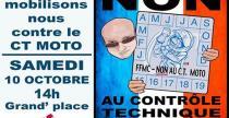 Motocykli�ci we Francji protestuj� przeciwko zakazowi wjazdu niekt�rych jedno�lad�w do centrum Pary�a