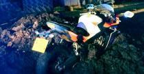 Nietypowy wypadek w Anglii - motocyklista