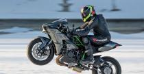 Kawasaki Ninja H2 i najszybsze wheelie na lodzie