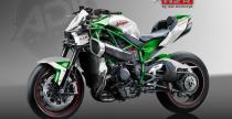 Kawasaki Ninja H2R w wersji Streetfighter - jest na co popatrze�