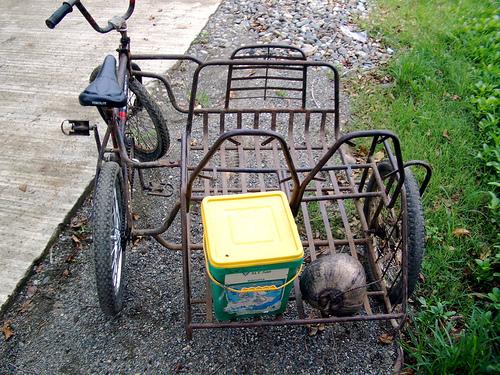 Как сделать коляску для велосипедов