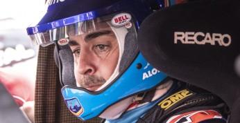 Alonso o jeździe dakarówką: Sporo męczy