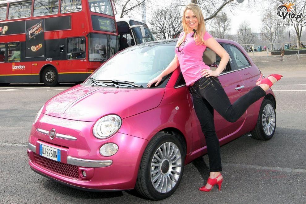 Nowy Fiat 500 Fiat 500 Barbie Show Car