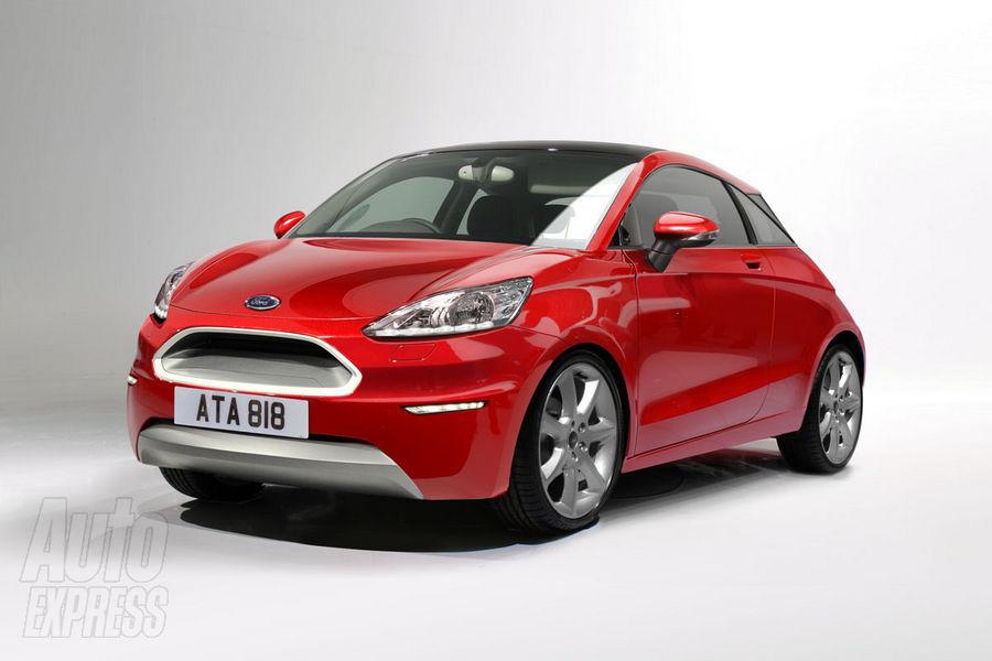 Nowy Ford Ka 2014 - wizualizacja