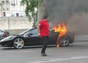 Ferrari 458 Italia - pożar