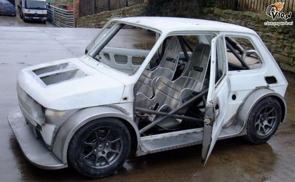Fiat 126p z silnikiem motocyklowym 012