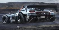Koenigsegg One:1 - apokaliptyczna wizja od Yasid Design
