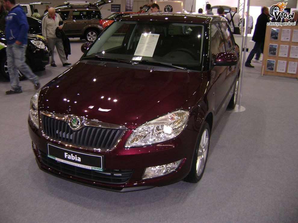 Nowa Skoda Fabia 2010 po face liftingu - Motor Show 2010