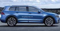 Volkswagen Tiguan w wydaniu 7-osobowym oraz Coupe - wizualizacje