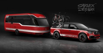 Mercedes klasy X jako mobilna baza kolarska od Carlex Design