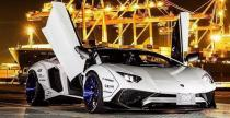 Liberty Walk Lamborghini Aventador SV - bandzior pod osłoną nocy