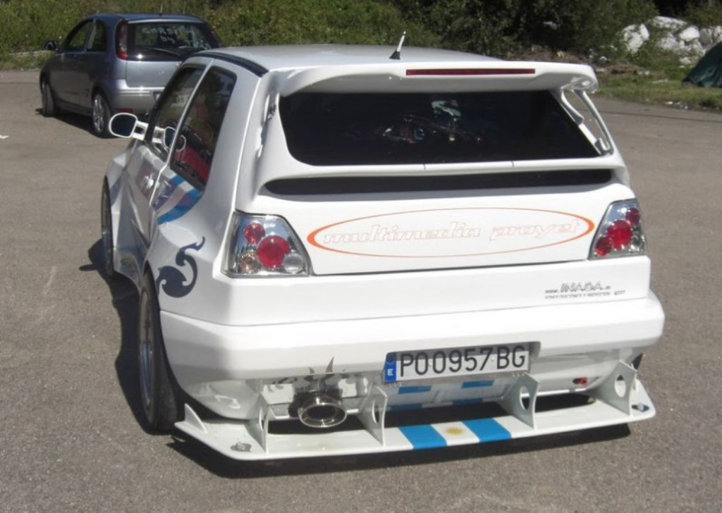 vw golf ii wiejski tuning 6